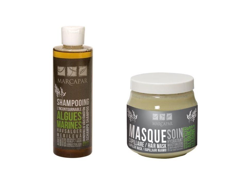 Shampoing et masque aux algues marines de Marcapar