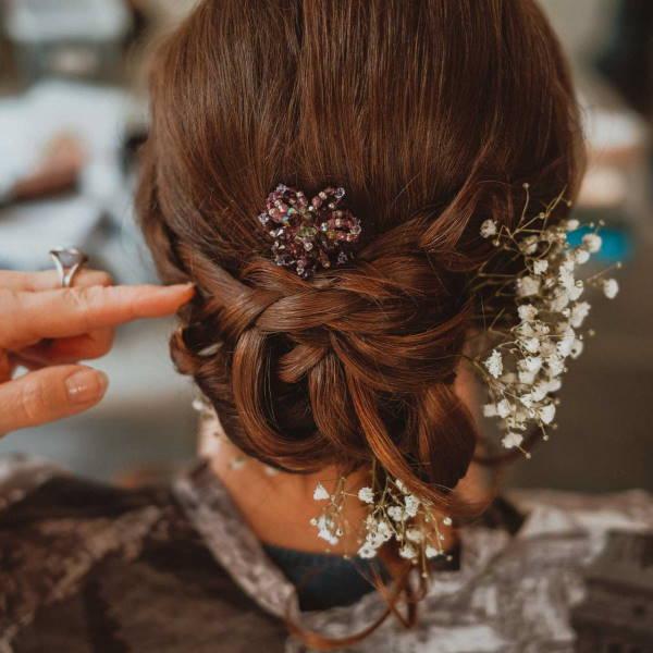 photo coiffure de mariage